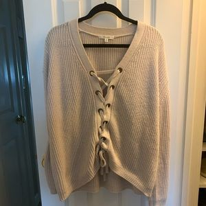 Active USA Lace Front Sweater
